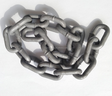 GRAY COLOR HOT ZIPPED GALVANIZED LINK CHAIN