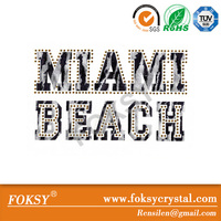 wholesale iron on fabric labels about miami beach