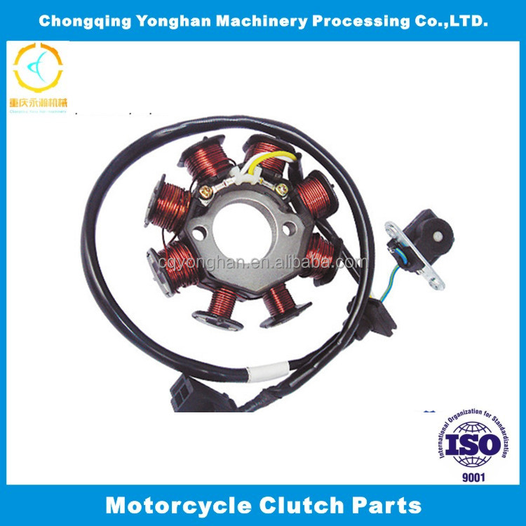 CG125-8 class magnetor electric generator coil rotor and stator assy for motorcycles