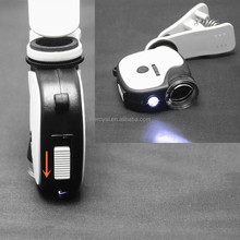 High Definition Mini Adjustable Focus Mobile Phone Microscope with LED and UV Light