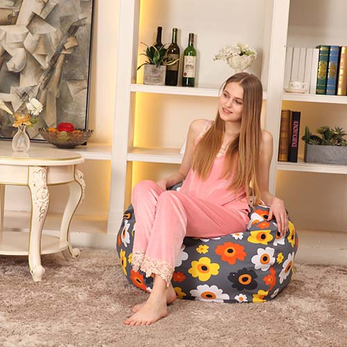 Bean Bag Chairs Tear Drop Shaped Canvas Fabric Storage