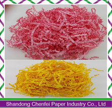 Well and High Quality colored paper shredded wrapping box paper shredded