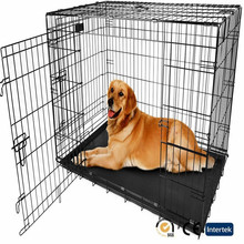 large metal folding outdoor dog cage