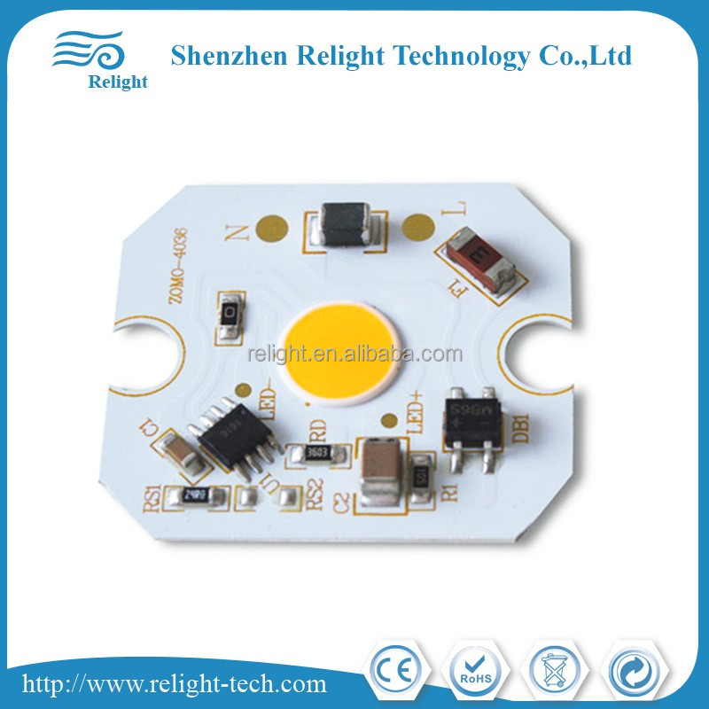 DOB 5-10W driverless led module AC220V for spotlight bulb/ led light/track light/downlight,bridgelux chip