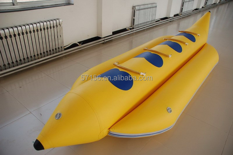 Quick delivery 4 person aqua park inflatable banana boat for sale