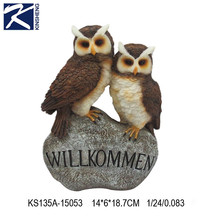 Home decoration cute style owl polyresin craft