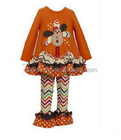 halloween fancy dress with chevron ruffle pants outfit kids Halloween clothes