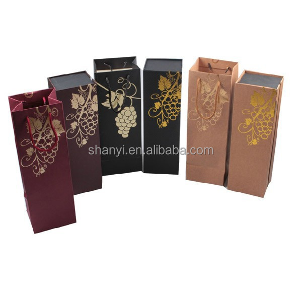 Mountain custom decorate luxury branded design cardboard wine carrier box