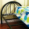 blue coated single folding iron bed
