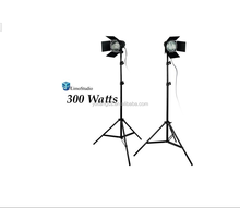 Studio 2Pcs Photo Video Studio Continuous Light Lighting kit, Studio Barn Door Light Head with JDD Light Bubls