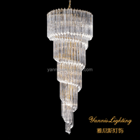 Spiral crystal bar chandelier lamp direct from China. crystal chandelier from zhongshan. spiral chandelier lighting