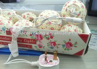 the led lamps string flowers printed paper lanterns