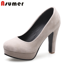 Asumer sexy dancing fashion elegant platforms women pumps shoes