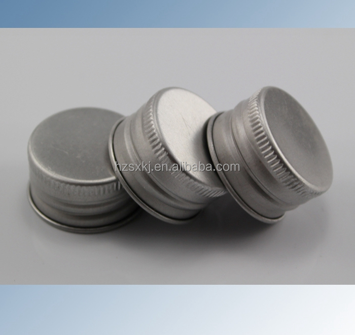 28mm Aluminum Bottle Cap With Threaded Lines