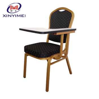 2014 cheap school chair with writing pad
