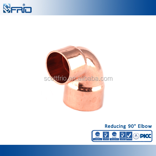 Copper pipe fittings 90 degree long radius elbow