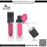 2016 Fashion Waterproof Lipstick Lip Gloss Brilliant Cristal Pink Color Lipgloss Supply With a LED Light