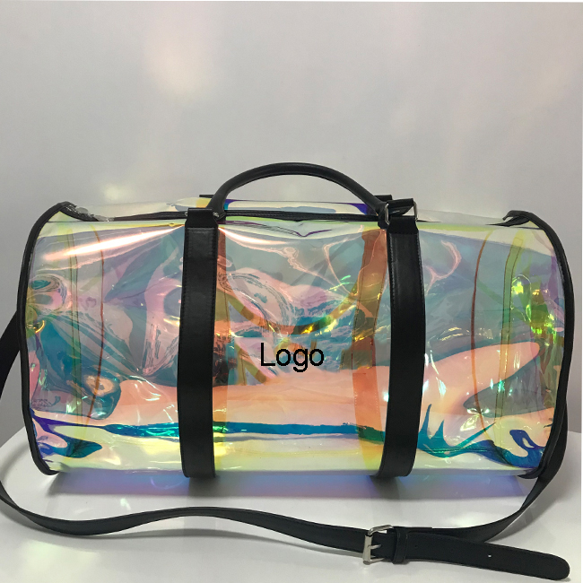 Yzora Waterproof Weekend Luggage PVC Clear Holographic <strong>Travel</strong>
