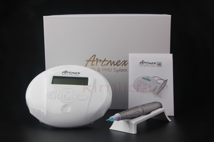 Professional semi permanent makeup tattoo kits machine Artmex V6 with 360 degree freely move pen stamp