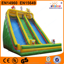 Hot Sale 10m High cheap adult large Spongebob inflatable slides for sale