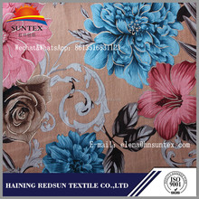 polyester flower print home textile fabric importers in dubai from europe