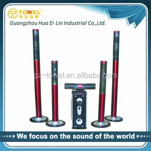 home theater system 5.1 Factory wholesale 5.1 wireless speakers surround home theater with USB/SD remote