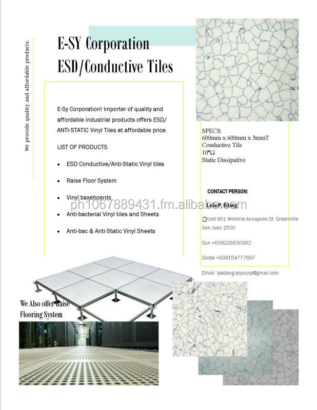 Esy Corp ESD Anti Static Vinyl Tiles