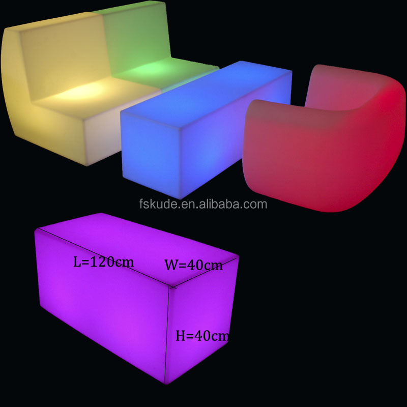 wholesale RGB glowing party led cube table for rental