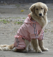 PETSOO Pink Waterproof Large Dog Raincoat Wholesale Biger Pet Clothes Reflective Double layer Mesh [PTS-042C]