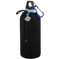 Promotional top quality neoprene wine bottle cover with zipper