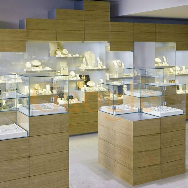 high quality showroom designs counter display jewellery showcase
