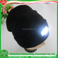 led Knitted Beanie Hat With Tassel Manufacturer Factory