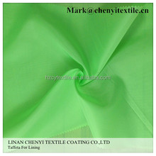 High quality 190T taffeta plain dyed 100% polyester lining