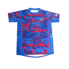 Tackle club team set wholesale custom short sleeves classical fit sublimation rugby jersey