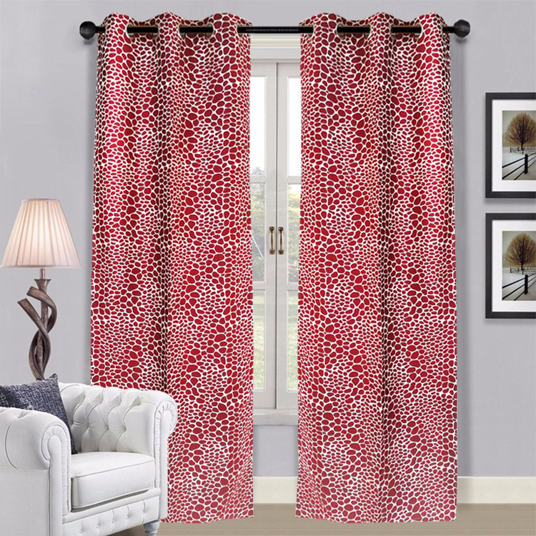 2017 Wholesale Colorful Stock Cheap Fancy Window Curtains
