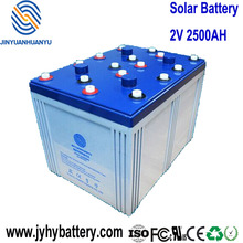 2V 2500AH Rechargeable Deep Cycle Maintenance Free AGM Solar Storage Battery