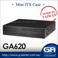 GA620 Mini ITX Barebone System Car PC Case