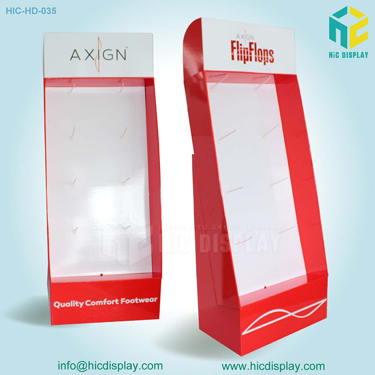 4 sided advertising display stand with hooks