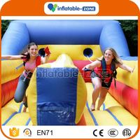Super quality inflatable run races electronic marble run