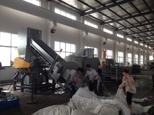 plastic recycling extrusion pelletizing line