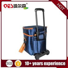 Hot selling new style cool carry insulated lunch box wine trolley cooler bag