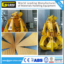 GBM power plant electro hydraulic orange peel grab bucket housing waste/garbage grab