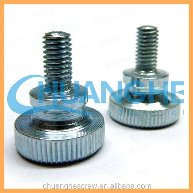knurled hexagon head socket cap screw