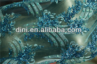 hand work beaded embroidery fabricsequins embroidery fabric for fashion garment in 2015