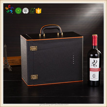 custom black leather bags with handles for red wine wholesale 6 bottles wine carrier