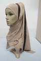 H301 latest one piece instant hijab with shawl,muslim scarf