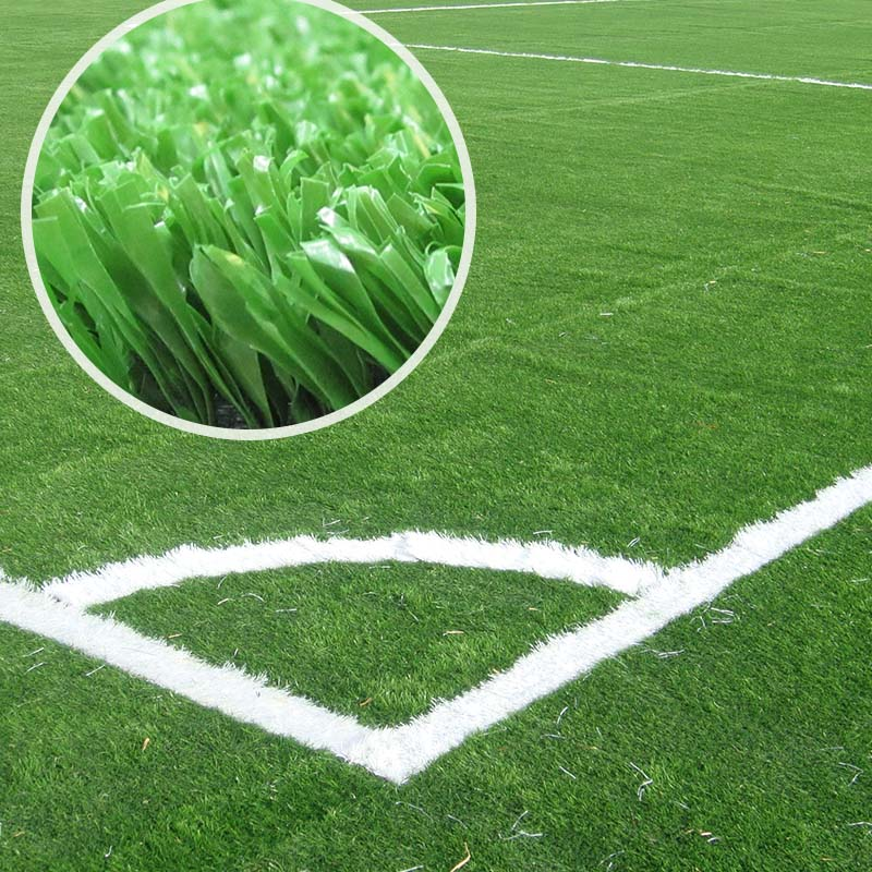 Natural Looking 50mm 40mm Olive Green Soccer Artificial Grass