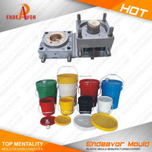 Good quality taizhou leading injection plastic water or paint bucket mold mould