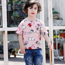 Wholesale O neck kids 100% organic cotton t shirt kids for boys and girls