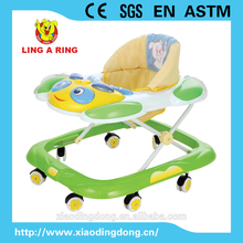 baby walker with flashing and lovely panda music panel 2016 new product
